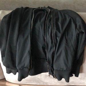 Diesel black coat jacket